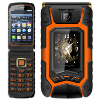 MAFAM X9 Rugged Flip phone Double dual Screen Dual speaker Dual SIM Card one key dial long standby 2500mAh FM mobile phone