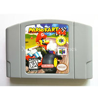 Nintendo 64 Game Mario Kart 64 Video Game Cartridge Console Card English Language US Version