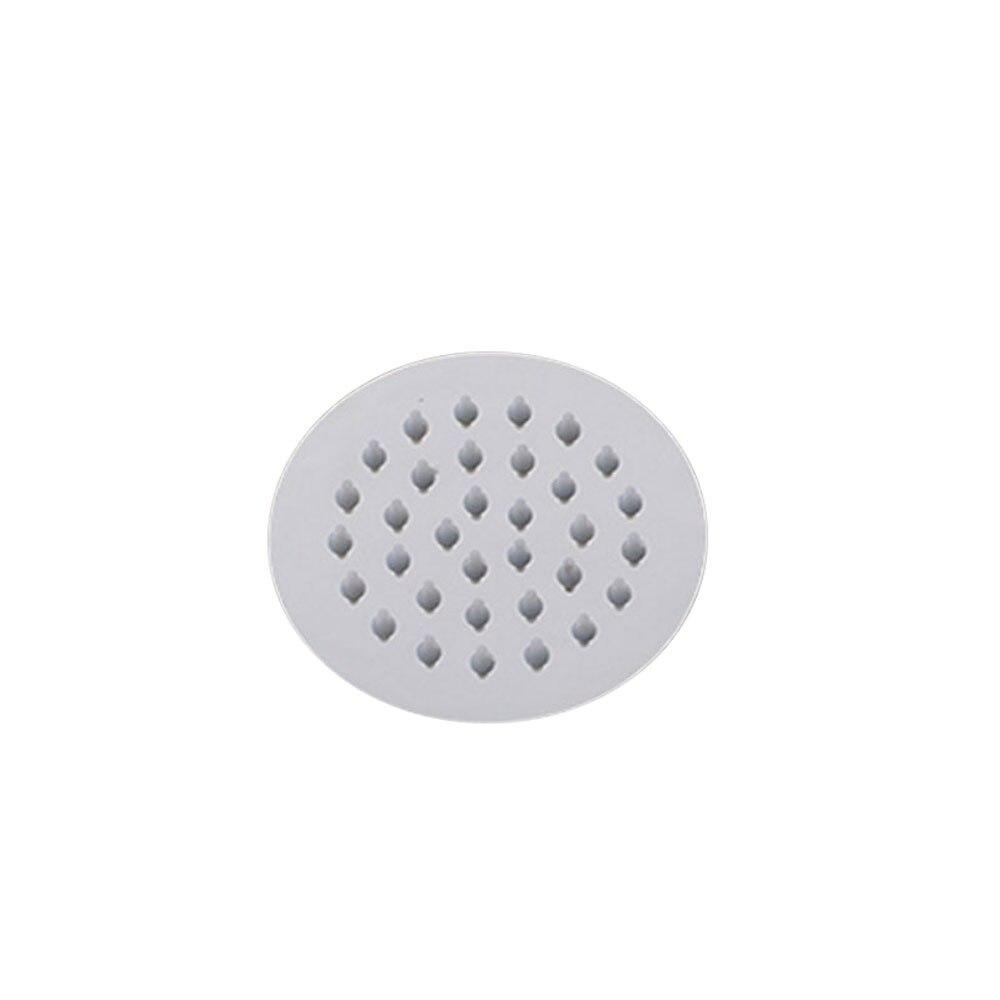 Тонкая верхняя душевая головка для ванной пульверизатор с вентилем дождевой Душ высокого давления для ванной удобный серебристый прочный - Цвет: 4 inches