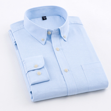 Men's Oxford Solid Color Casual Anti Wrinkle Shirts