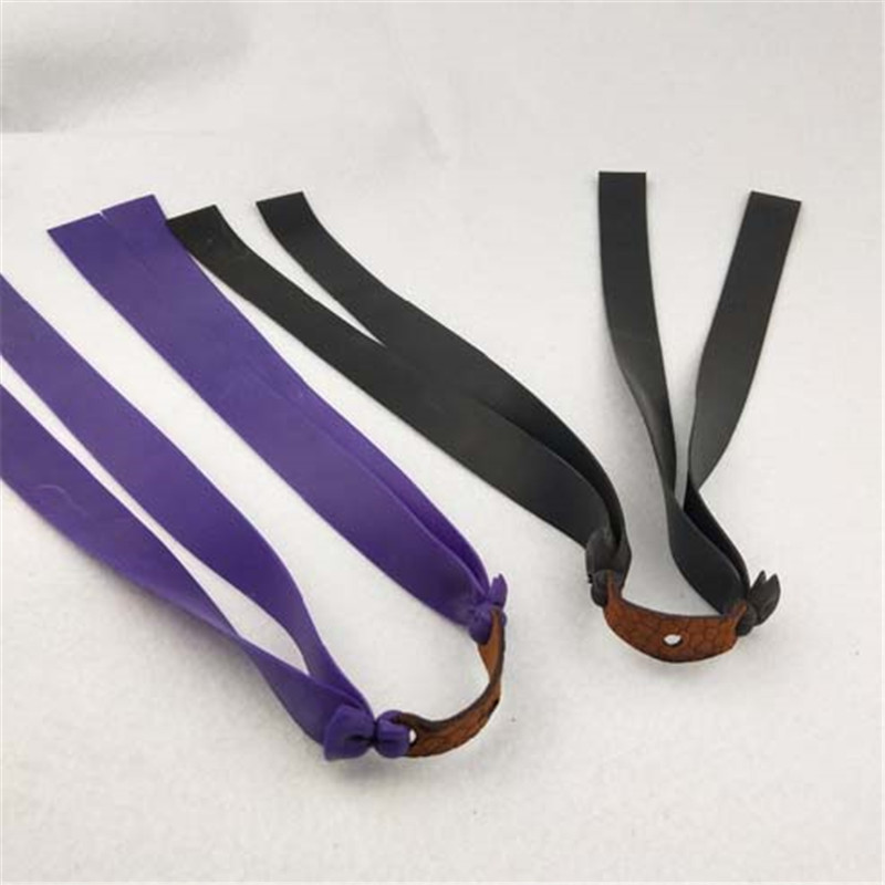 Outdoor Slingshots Double Layer Flat Rubber Band Thicknes Catapult Natural Latex Flat Elastic Resilient For Shooting