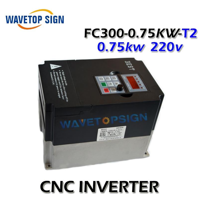best inverter 0.75kw 750w cnc router inverter 0.75kw   inverter FC300-0.75KW-T2 single phase AC 220v  current is 5A fc 051p1k5s2e20h3bxcxxxsxxx inverter