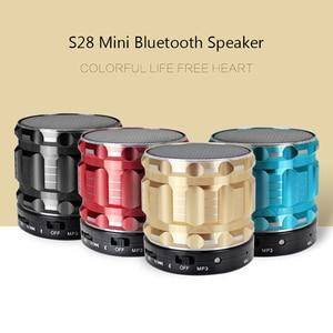 Image 2 - Aimitek S28 Portable Metal Mini Bluetooth Speaker Wireless Steel Outdoor Handsfree Stereo Subwoofer Support FM Radio TF Card AUX