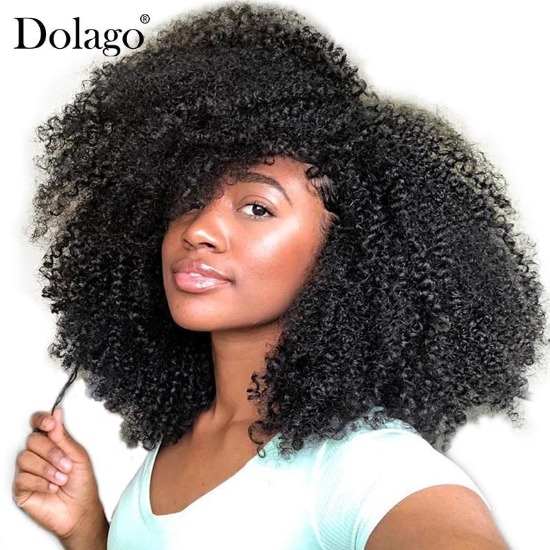 4B 4C Afro Verworrene Lockige Clip In Menschliches Haar Extensions Brasilianische Remy Haar 100% Menschliches Haar Natürlichen Schwarzen Clip Ins bundle Dolago