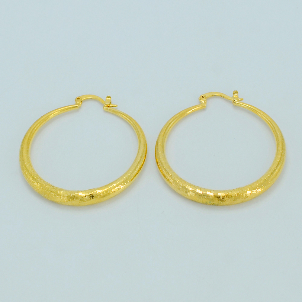 Anniyo African Earrings for Womens Gold Color Brass Round Earrings Girl Africa Jewelry Arab Ethiopian Earrings #026706