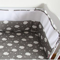 Free shipping Breathable Mesh Crib Bumpers Baby Bedding Crib Liner Baby Solid Cot Bed Around Protector 200*28CM