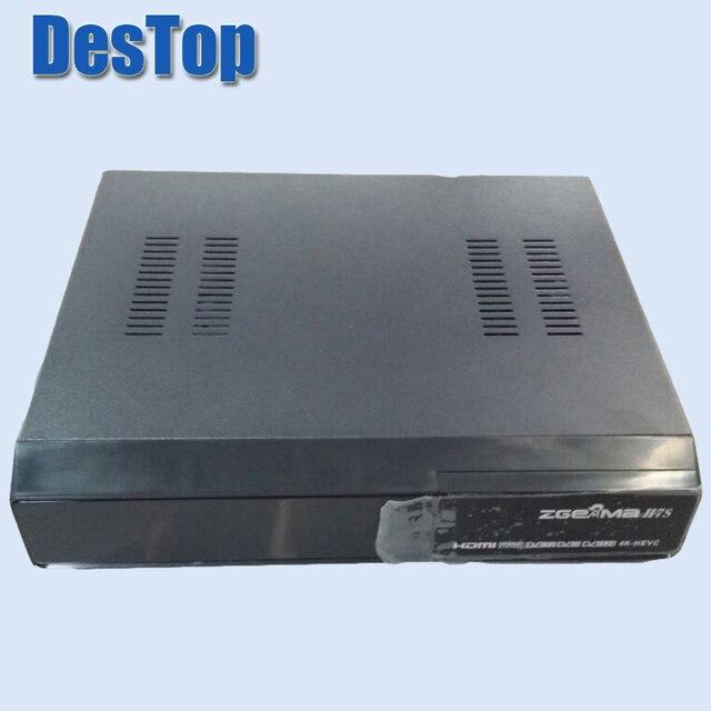 1PC Zgemma star H7S E2 Linux câble Satellite 4k UHD récepteur 2 * DVB S2/S2X + DVB T2/C