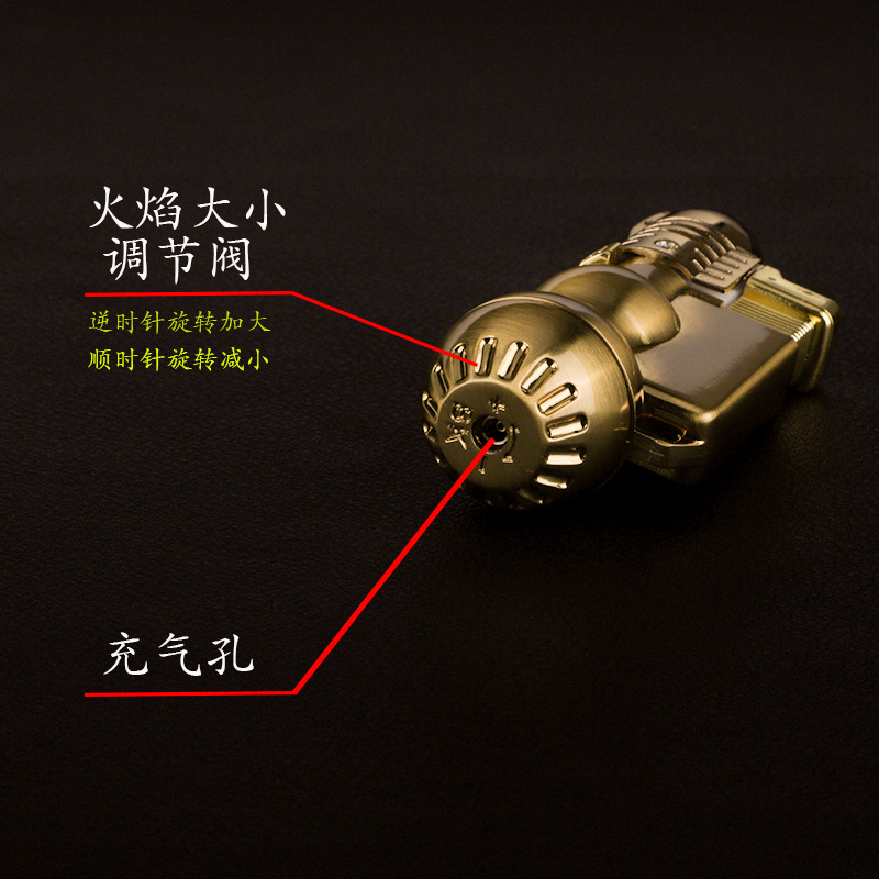 Metal Lighter Torch Turbo Lighter gas Lighters Blue Flame Electronic Butane Spray Gun Mini Cigar Cigarettes Lighters in Matches from Home Garden