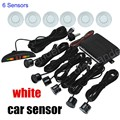 factory price Parking Assistance Car LED Parking Reverse Backup Radar System with LED Display monitor 6 Sensors 9 colors