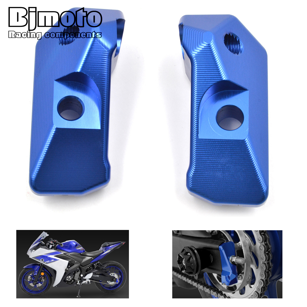 CA-R3 For Yamaha YZF R3 2015-2017 YZF R25 2013-2017 MT03 MT25 2015-2016 CNC Rear Axle Spindle Chain Adjuster Blocks Protector romanson tm 1256 mj wh