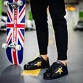 2016 Новые Моды для Мужчин Панк Уличный Стиль Скейт Обувь Дышащая Повседневная Оболочки Ног Шнуровкой Обувь Мужчин Обувь Chaussure Homme