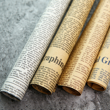 4 in 1 Nostalgic English Newspaper Vintage Style for Photo Studio Backdrop Accessories Cosmetic Food Photography Background Mat
