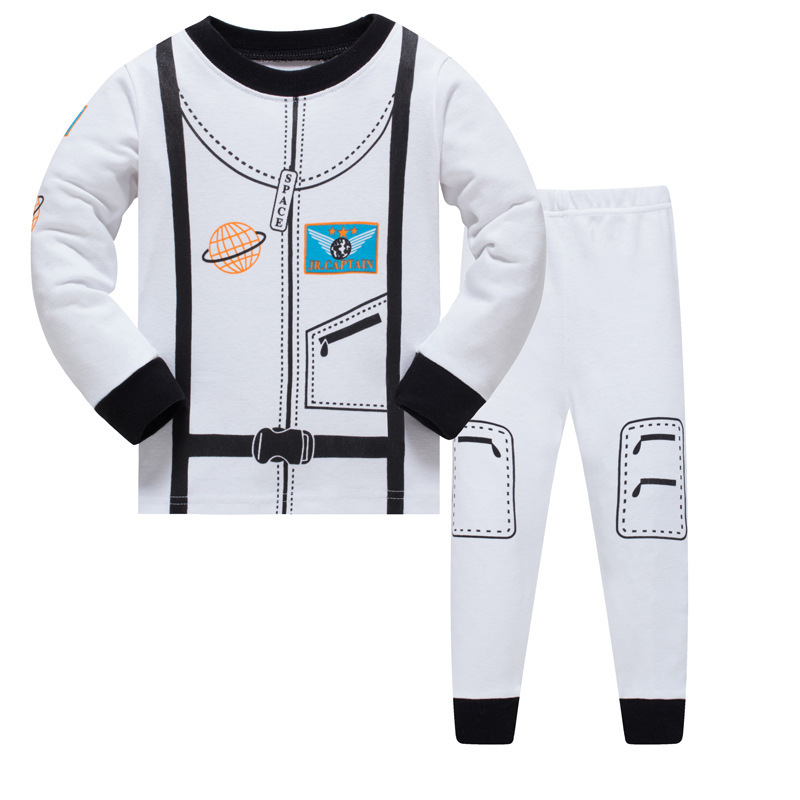 1 Set 8r-113, Raum Kinder Jungen Pyjamas Sets, Langarm Nachtwäsche Anzug Für 3-8y