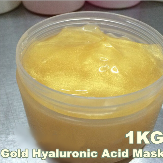 1KG Gold Hyaluronic Acid Moisturizing Mask Whitening Anti-Aging Agless Skin Care Equipment Beauty Salon Products 1000ML 1kg sensitive skin chamomile mask gel beauty salon 1000ml ultra calm cooling soothes recuperate repair