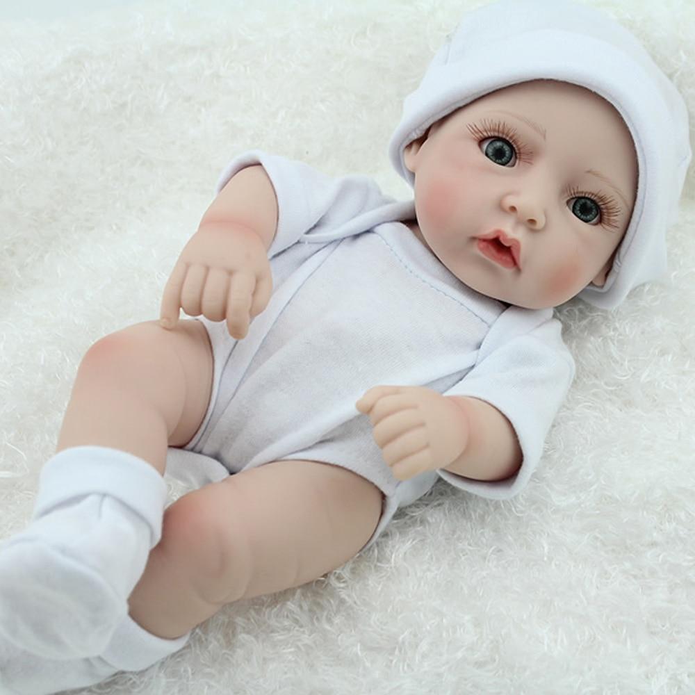 "10/"" girl all vinyl newborn baby simulation baby doll toy reborn doll baby"