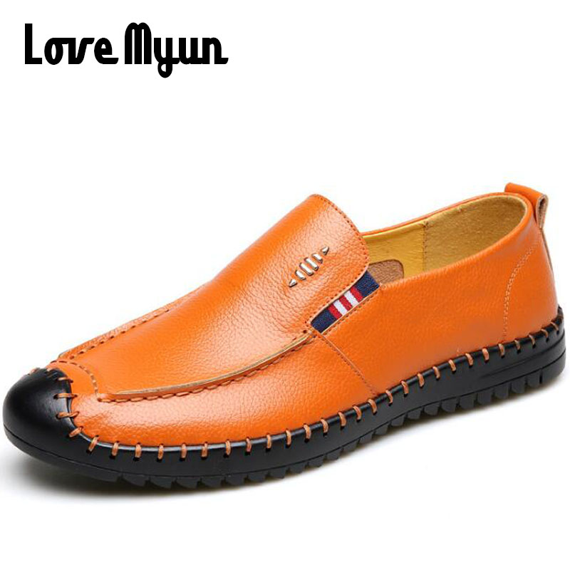 2018 High Quality mature Men Casual Shoes,New Fashion Men Loafers Driving Genuine leather DAD Shoes Luxury Shoes Men DD-89 cbjsho brand men shoes 2017 new genuine leather moccasins comfortable men loafers luxury men s flats men casual shoes