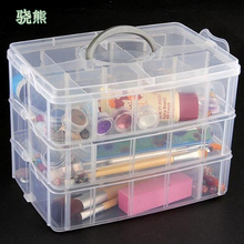 30 Grids Clear Plastic Storage Box For Toys Rings Jewelry Display Organizer Makeup Case Craft Holder Container porta joias mini clear plastic small box jewelry earplugs storage box case container bead makeup clear organizer gift