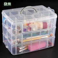 30 grades limpar caixa de armazenamento de plástico para brinquedos anéis jóias exibição organizador caso de maquiagem artesanato titular recipiente porta joias