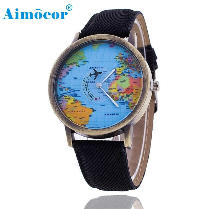 2017 Newly Designed Relogio Feminino Relogio Masculino Clock  Men Women Watch World Map Design Analog Quartz Watch Gift 628