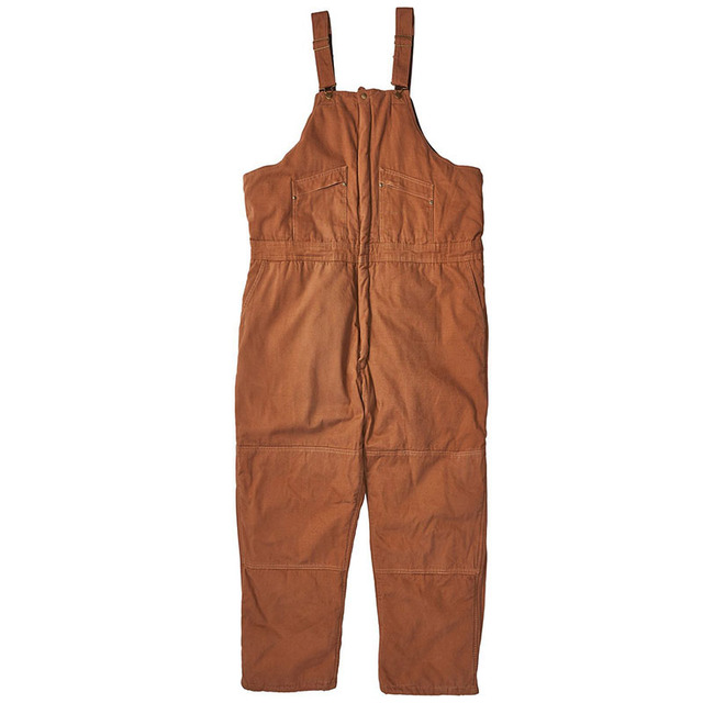 Bib overalls men thickening cotton padded work pants cold storage welding repair wear-resistant canvas sleeveless coveralls 2