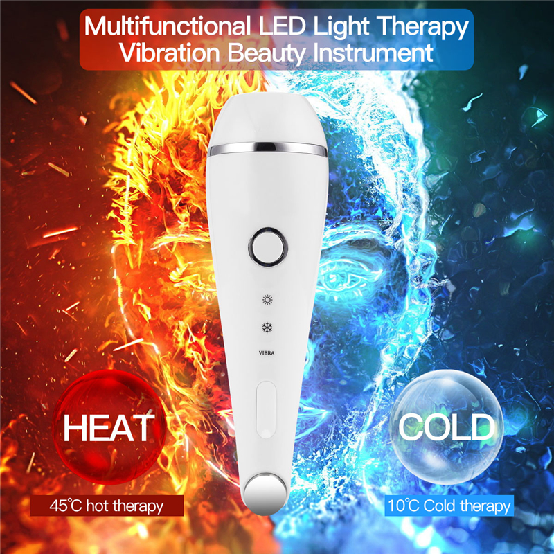 USB Multifunction Hot Cold Hammer Ultrasonic Vibrate Massager Red Blue Light LED Photon Rejuvenation Beauty Skin Care Device P47USB Multifunction Hot Cold Hammer Ultrasonic Vibrate Massager Red Blue Light LED Photon Rejuvenation Beauty Skin Care Device P47