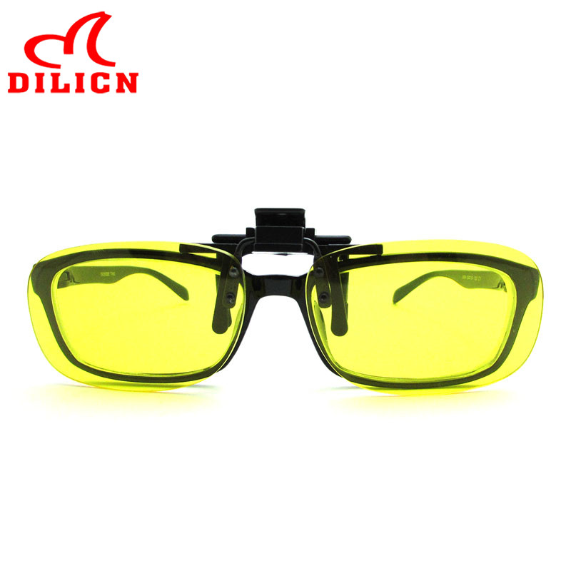 DILICN Men Plastic Frames Clip On Sunglasses Driving Night Vision ...