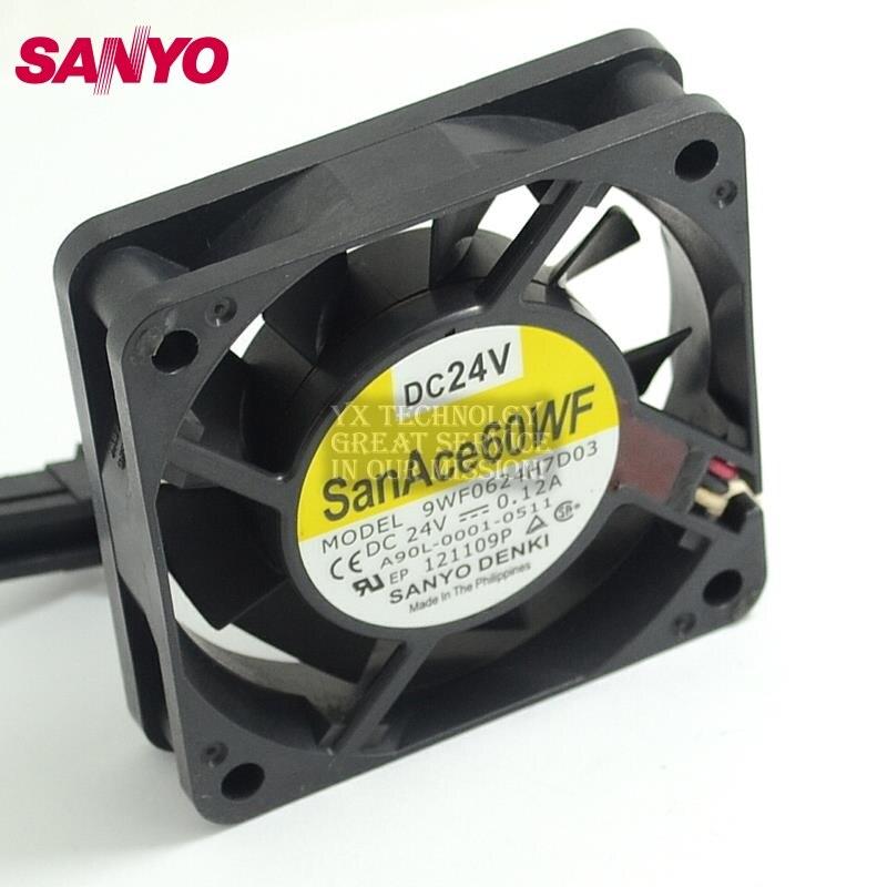 SANYO  New 9WF0624H7D03 6015 24V A90L-0001-0511 Fanuc fo fan  60*60*15mm the new fanuc fanuc a90l 0001 0443 r a90l 0001 0443 f spindle fan
