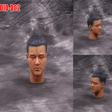 DID02-Military Caucasian Head (Close Mouth) #1 - 1/6 Scale Male Head Sculpt- 1:6 action figure head 12 Inch Hottoys Body Doll(China)