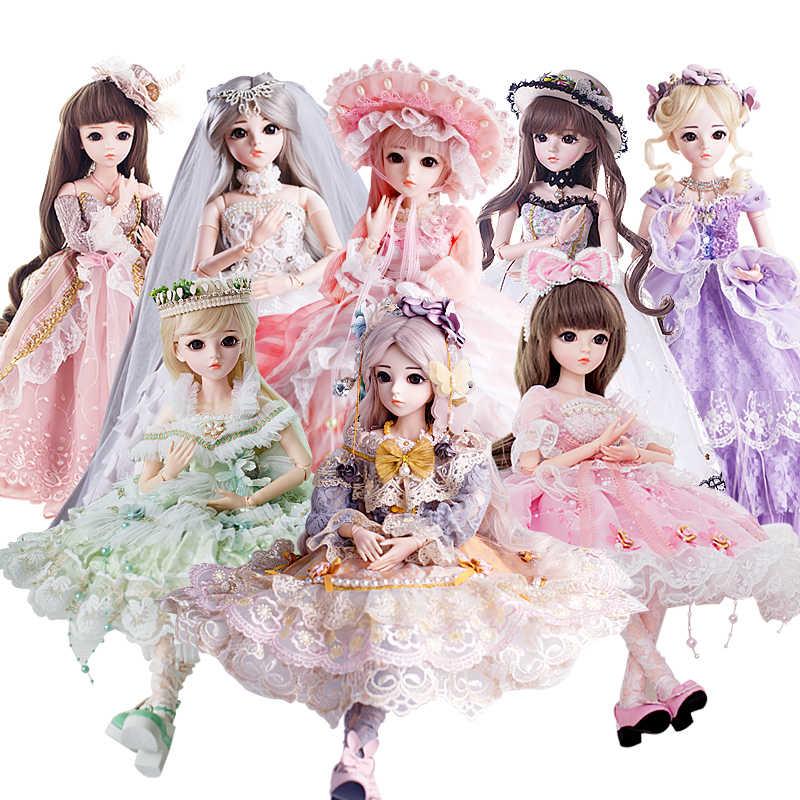 Специальная Бесплатная доставка BJD 60 см игрушки куклы Одежда высшего качества китайские куклы 18 совместных БЖД шаровой шарнир куклы модная одежда для девочек подарок