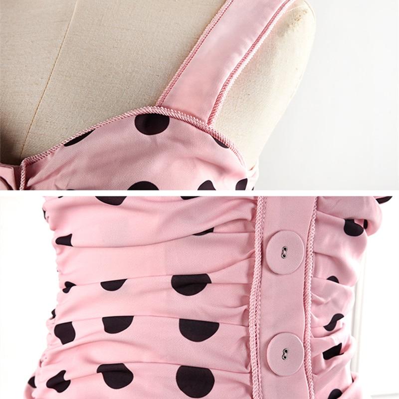 Rose Femmes Robe Australie Sexy À Marque Dot Bretelles Volants Pour Fourreau Designer Imprimé xwHqPwB