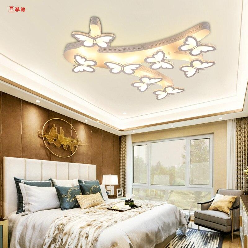 Moderne Kurze Die Schmetterling Lam Führte Deckenleuchten Für Wohnzimmer  Schlafzimmer Dinningroom Led Deckenleuchte Freies Shippin Esszimmer Zimmer
