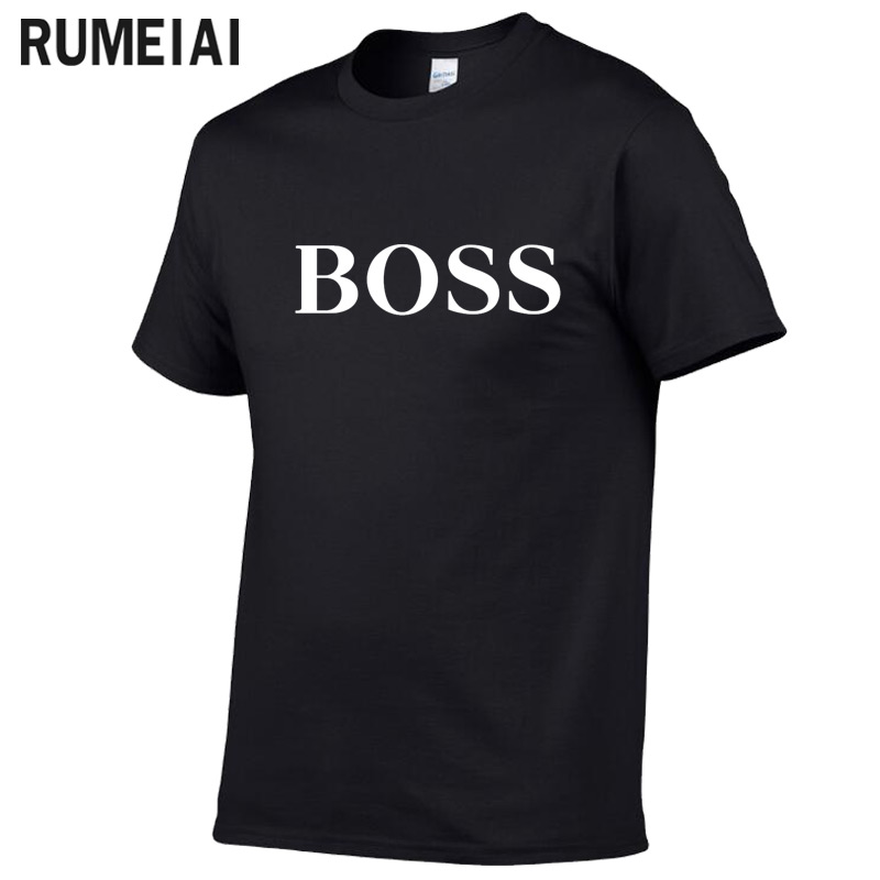 Brand   T     Shirt   Men 2019 New Fashion Boss Letter Printed Fashionable Round Neck   T  -  shirts   Men's Short Sleeve tshirt Jersey
