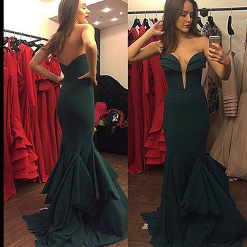 Stretch Strain Prom Gown Long Sexy Mermaid Evening Dress for Wedding Party