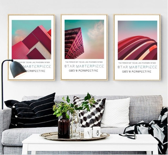 3 pieces architecture art decorative paintings wall art print picture canvas painting poster for living room