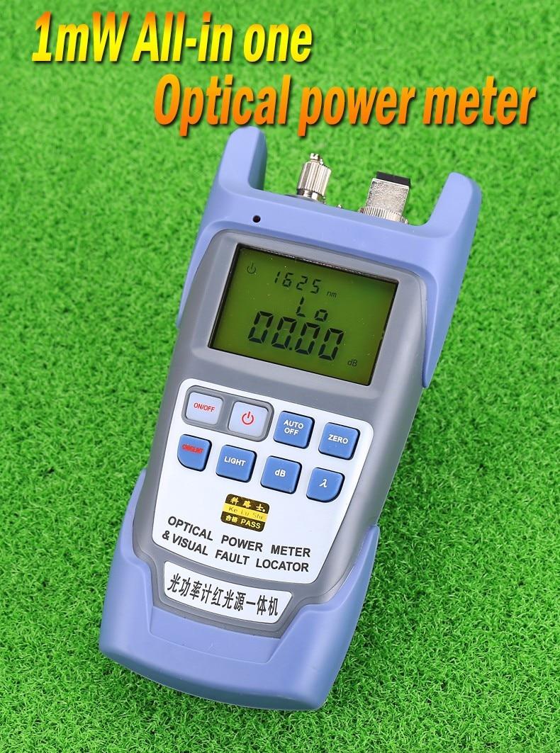KELUSHI все-в-одном FTTH волоконно-оптический измеритель мощности-70 до+ 10 дБм и 1 мВт 5 км тестер волоконно-оптического кабеля Визуальный дефектоскоп