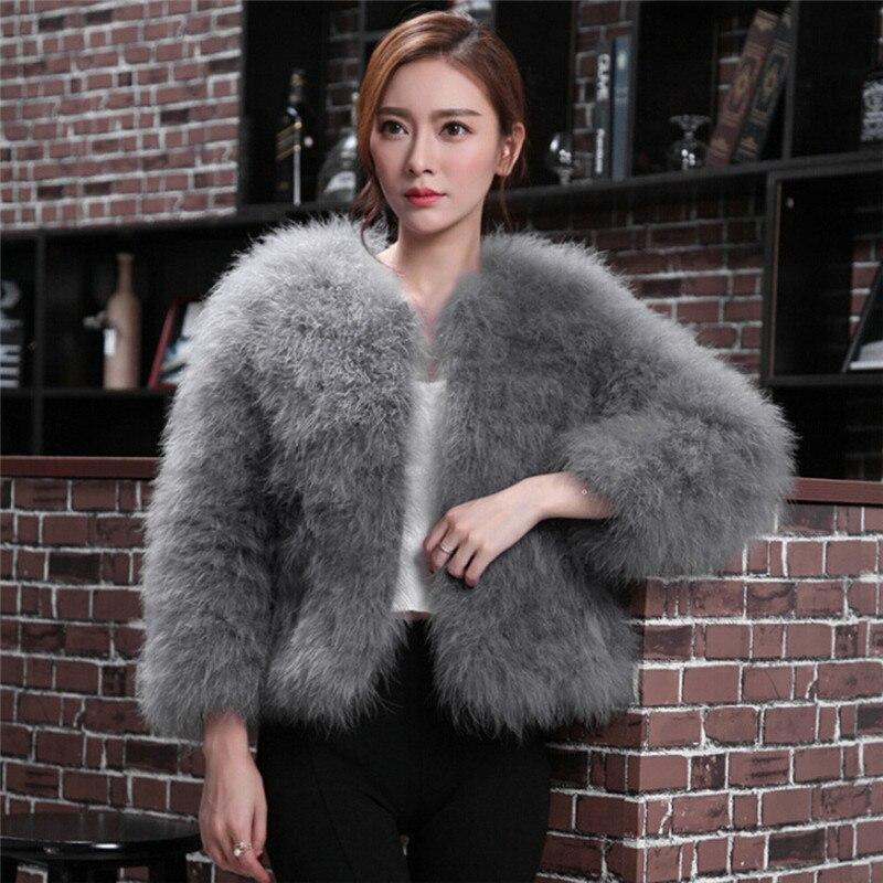 Manteau en fourrure douce pour femmes en fausse fourrure et autruche manteau en peluche automne hiver pour femmes #20