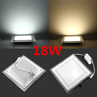 18w 4pcs 24w 1pcs LED Panel Downlight Square Glass Panel Lights Ceiling Recessed Lamps For Home
