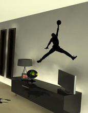2018 New   New AIR Jordan Basketball Wall Sticker jumpMan Decal Poster AJ HOT  Free shipping цена