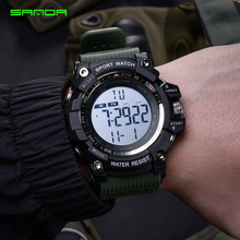 SANDA армейские военные часы для мужчин лучший бренд класса люкс водонепроницаемые цифровые секундомер часы фосфоресцирующие для спорта на открытом воздухе Relogio Masculino