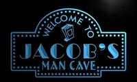 X0122 Tm Jacob S Man Cave Home Theater Custom Personalized Name Neon Sign Wholesale Dropshipping