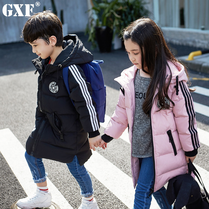 2017 Winter Baby Girls Down Coats Long Model Fashion Children Outdoor Windproof Jackets Kids Thick Warm Outerwear Parkas a15 girls jackets winter 2017 long warm duck down jacket for girl children outerwear jacket coats big girl clothes 10 12 14 year