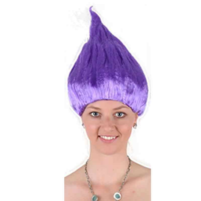 Вечерние парики для Хэллоуина, косплей, Маковый парик для детей, вечерние парики для детей и взрослых
