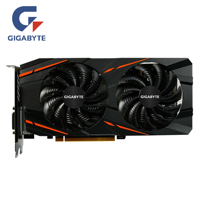 GIGABYTE RX 580 8GB Gaming Video Card GPU RX580 8G Graphics Cards Computer Game For AMD Video Cards Map HDMI PCI-E image
