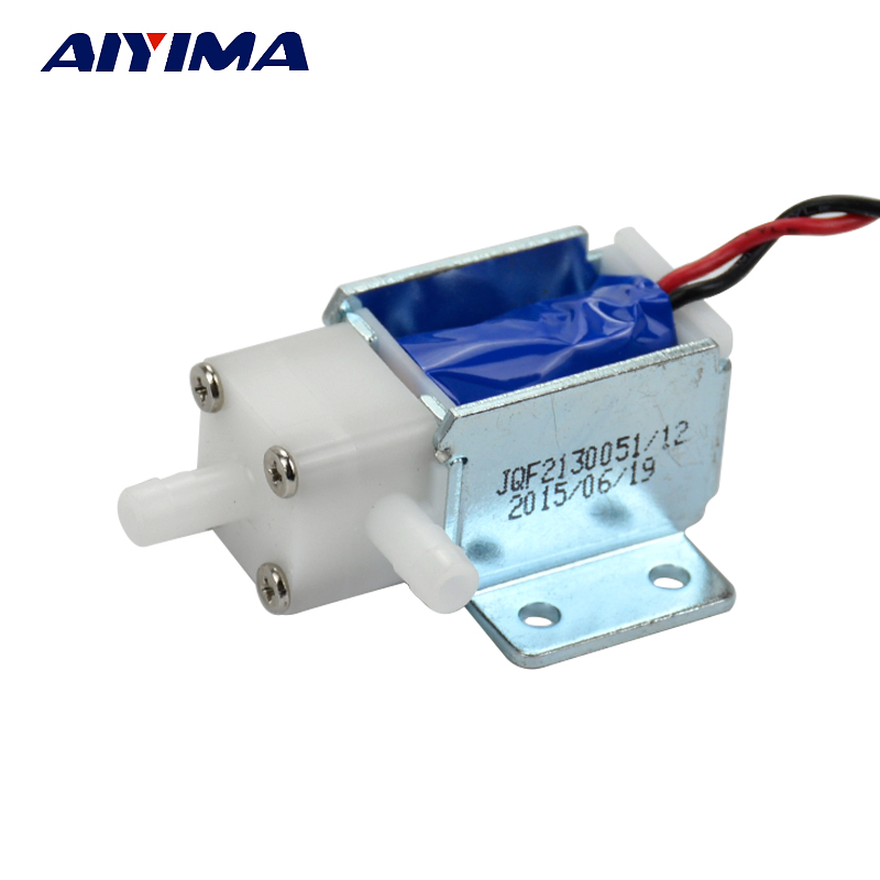 Aiyima Normally Open Solenoid Valve Miniature Electric Water Valve Snuffle Valve DC12V