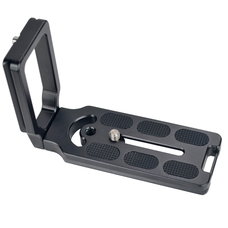 Aluminum Alloy Arca Swiss Universal MPU100 Vertical Quick Release L Plate Bracket with 1/4 camera screw for most of Ball Heads