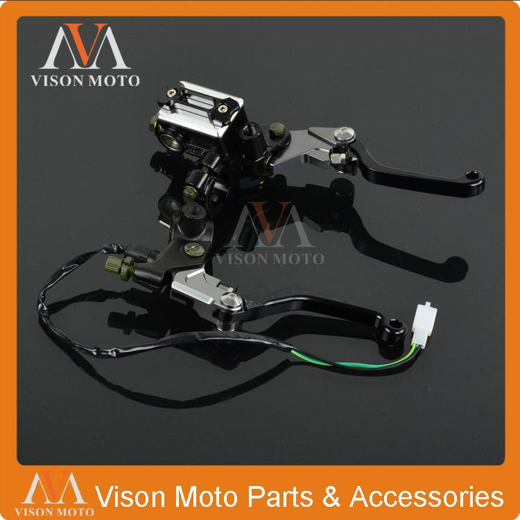 CNC Brake Lever Master Cylinder + Cable Clutch Perch For KTM XC XCW XCF XCFW EGS LC4 SMR MX 125-530CC Motocross Enduro Supermoto 4 directions cnc foldable pivot brake lever for ktm exc excr xcw xcrw xc sr sxr xcf sx sxf excf xcfw six days enduro dirt bike