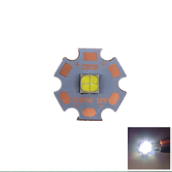 10PCS Cree XLamp XHP50 18W 6V/12V LED Bulb Emitter 2546lm 18W Cool White LED J2 1A Chip Light with16MM 20MM Cooper PCB