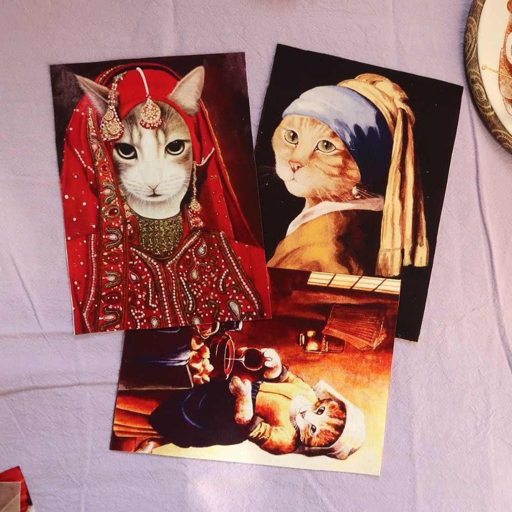 Syunss 1 piezas Retro Gentry gatos mano teñido de tela de lino de algodón Telas costura DIY Patchwork bordado a mano edredón bolsas tecido