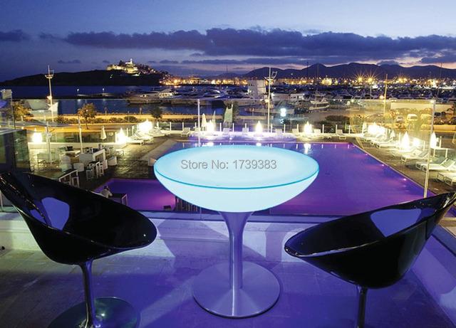 H110 Levou Mesa de Café-emitting, Salão de LED, Um Excepcionalmente Projetado Mesa Mobiliário Iluminado Led recarregável para Bares/eventos
