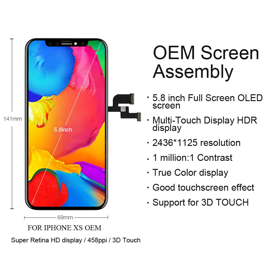 Image 5 - Original LCD For iPhone X Xs Max XR LCD Display For Tianma OEM Touch Screen LCDS With Digitizer Replacement Assembly Parts-in Mobile Phone LCD Screens from Cellphones & Telecommunications
